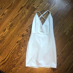 White Mini open back dress!